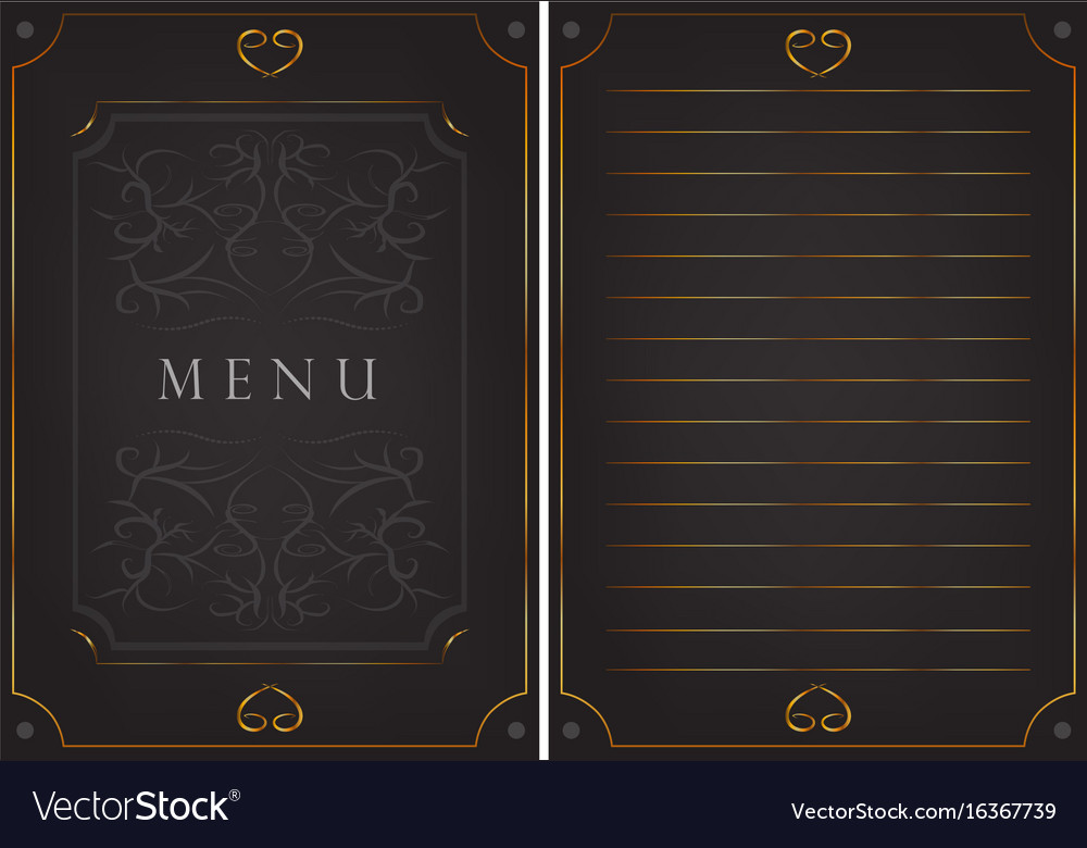 Black postcard with patterns vector image