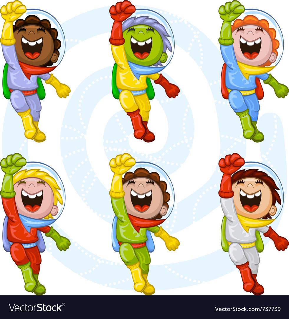 Cartoon astronauts