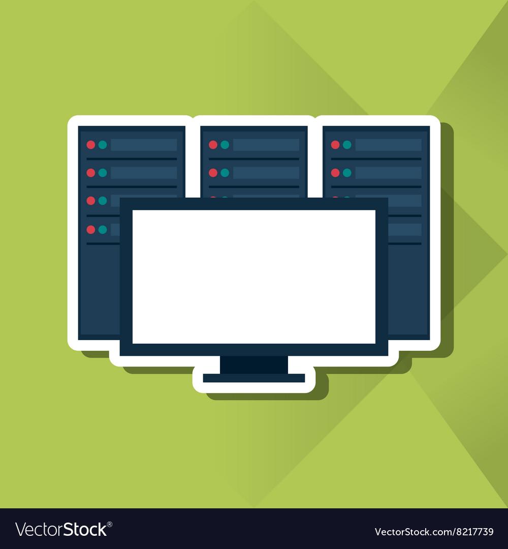 Data Center Icon Design Royalty Free Vector Image