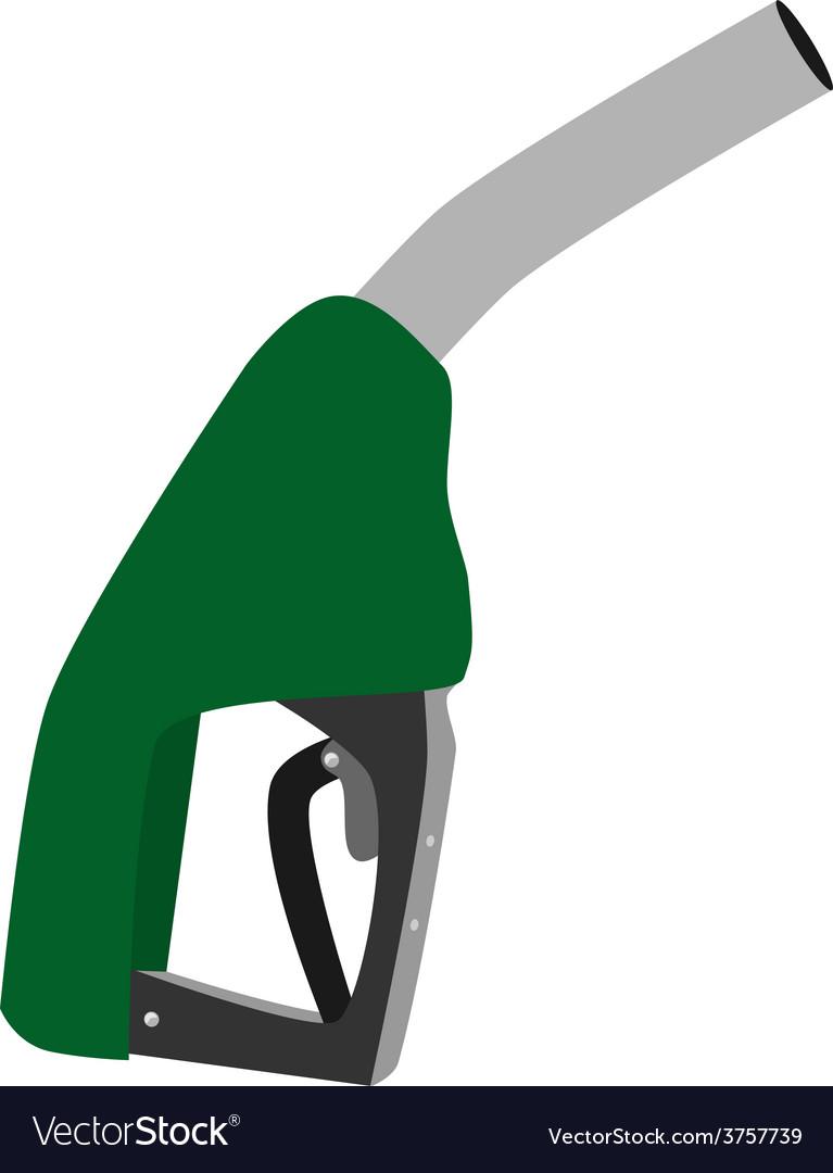 Green petroleum pump vector image