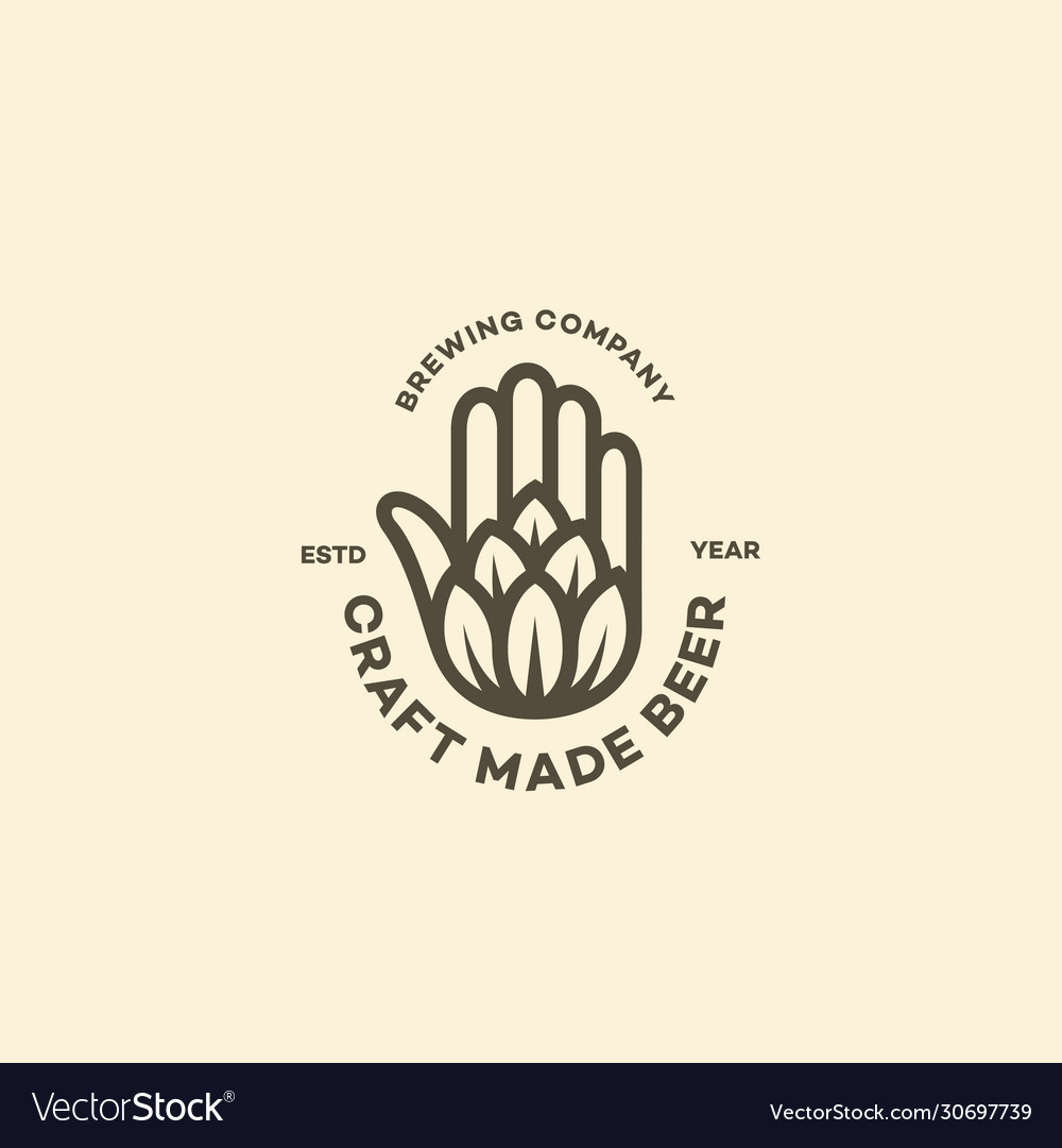 Hand and hop logo
