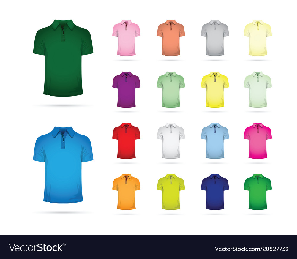 Large set of t-shirts vector image