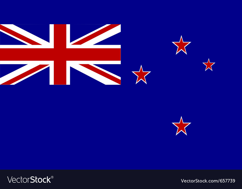 New zealand national flag vector image