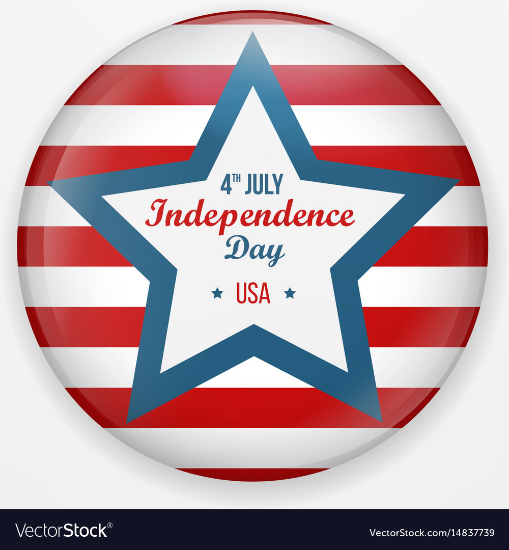 Stylish american independence day design badge