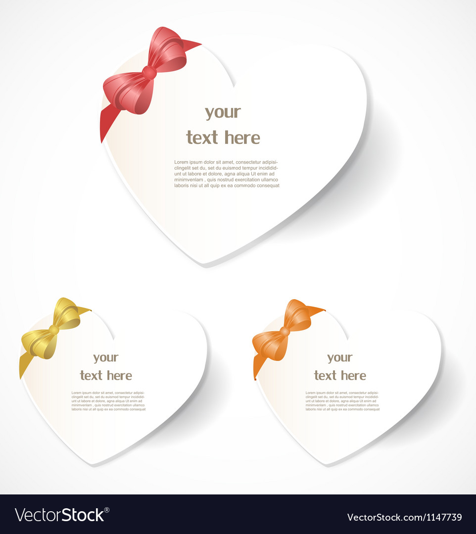 Valentines Day Labels Royalty Free Vector Image