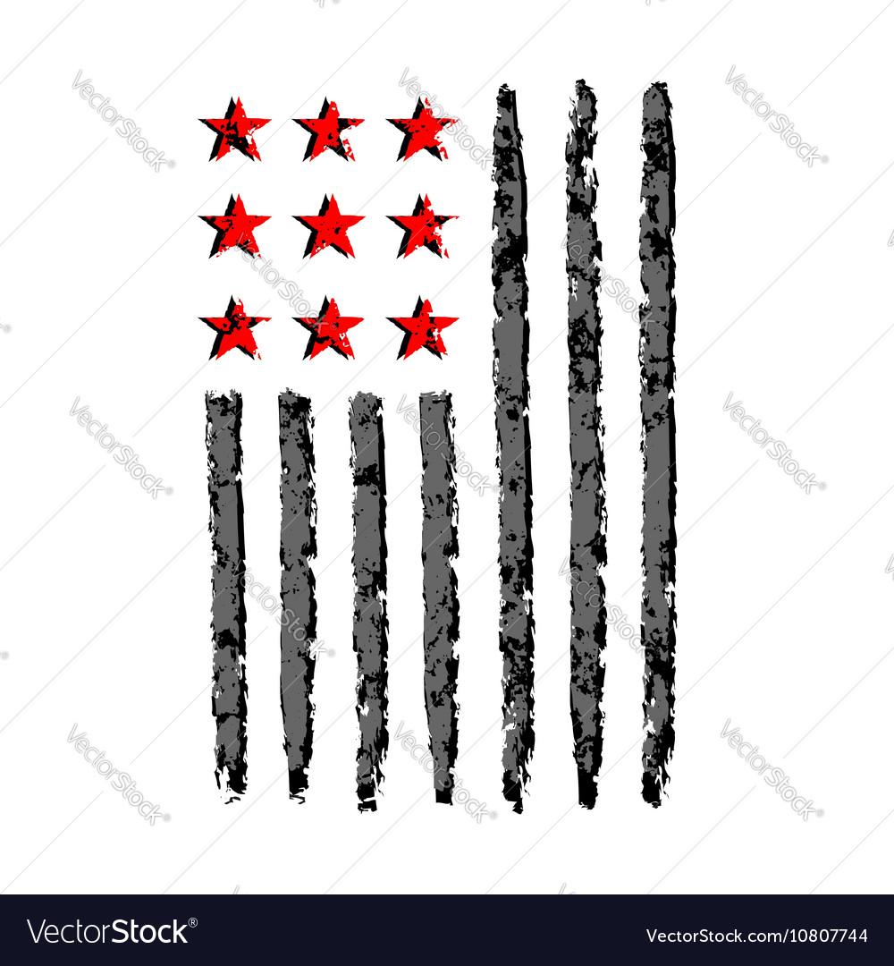 American flag grunge symbol independence day