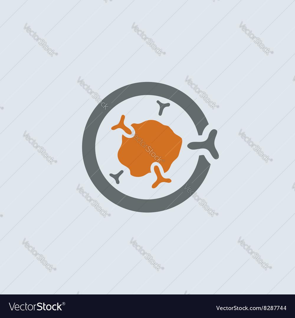 Gray-orange Immunoglobulin Round Icon vector image