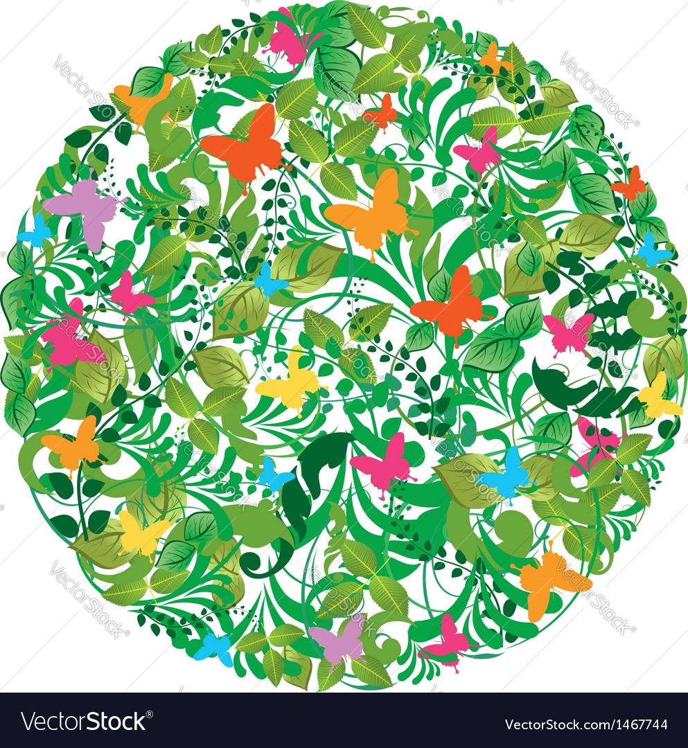 Green spring summer pattern