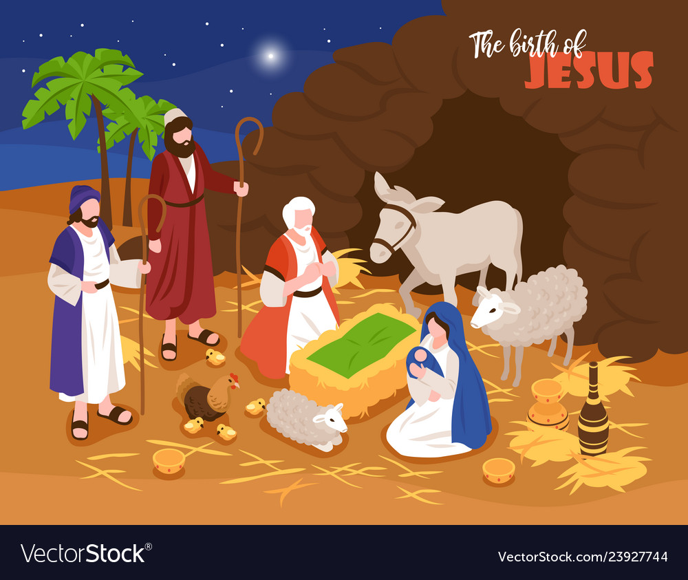 Jesus birth banner background