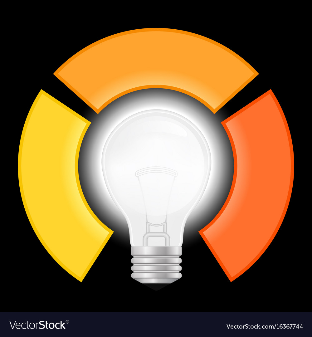light bulb infographic template for lamp diagram vector image rh vectorstock com Blank Vector Diagrams Basic Vector Diagram in Physics