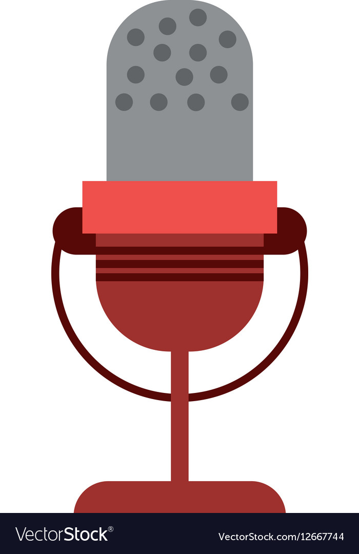 Microphone vintage communication audio vector image
