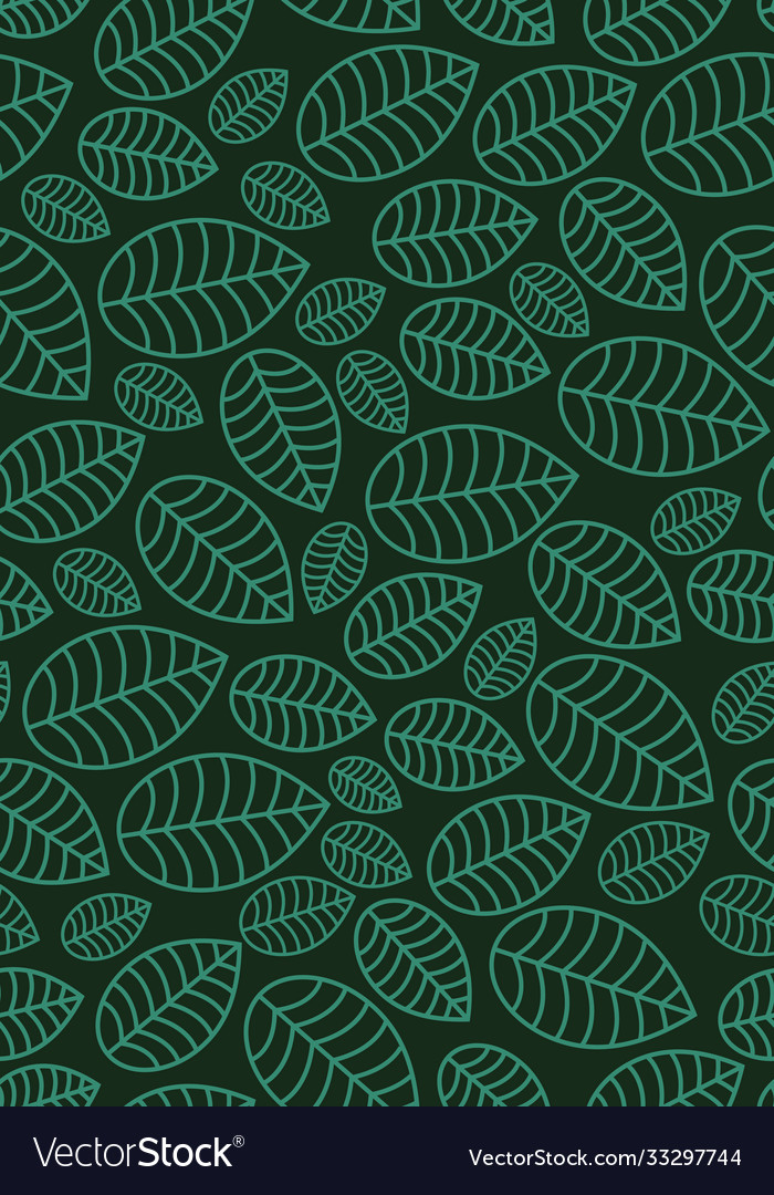 Seamless linear leaves pattern vertical plant
