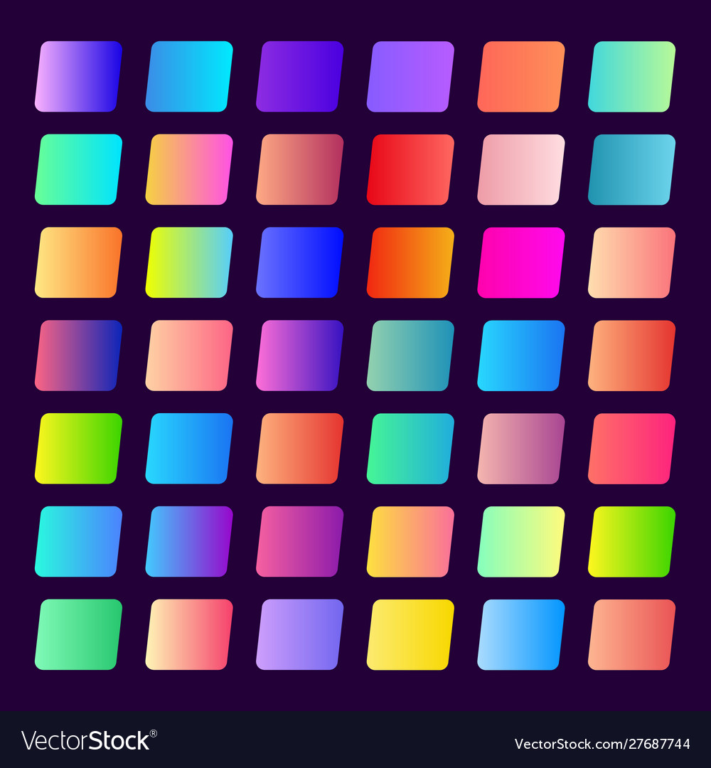 Set 42 gradients for buttons and mobile games