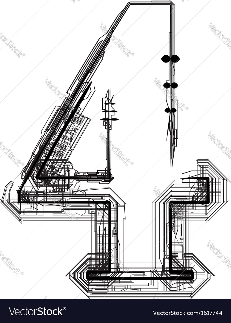 Technical typography Number 4