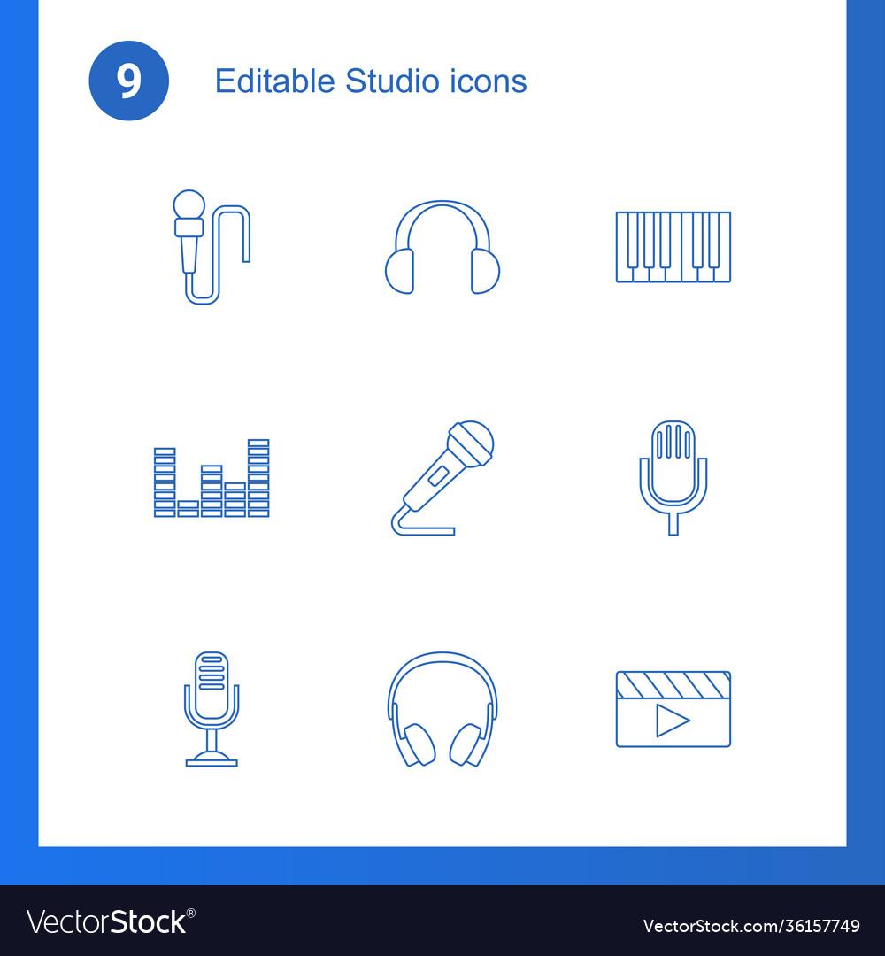 9 studio icons