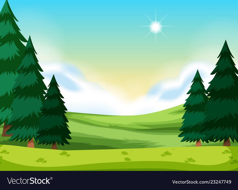 A flat nature landscape