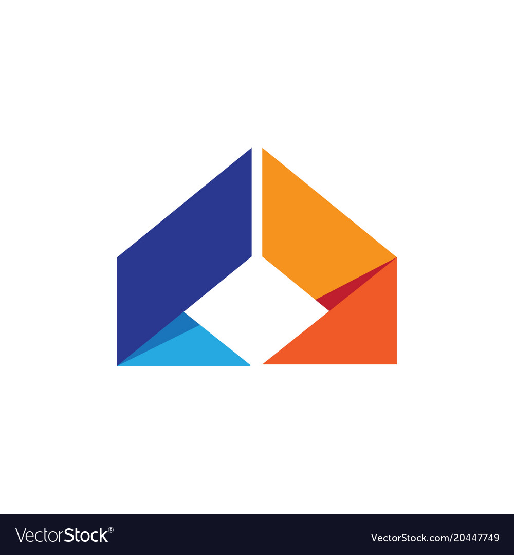 Abstract arrow business logo vector image