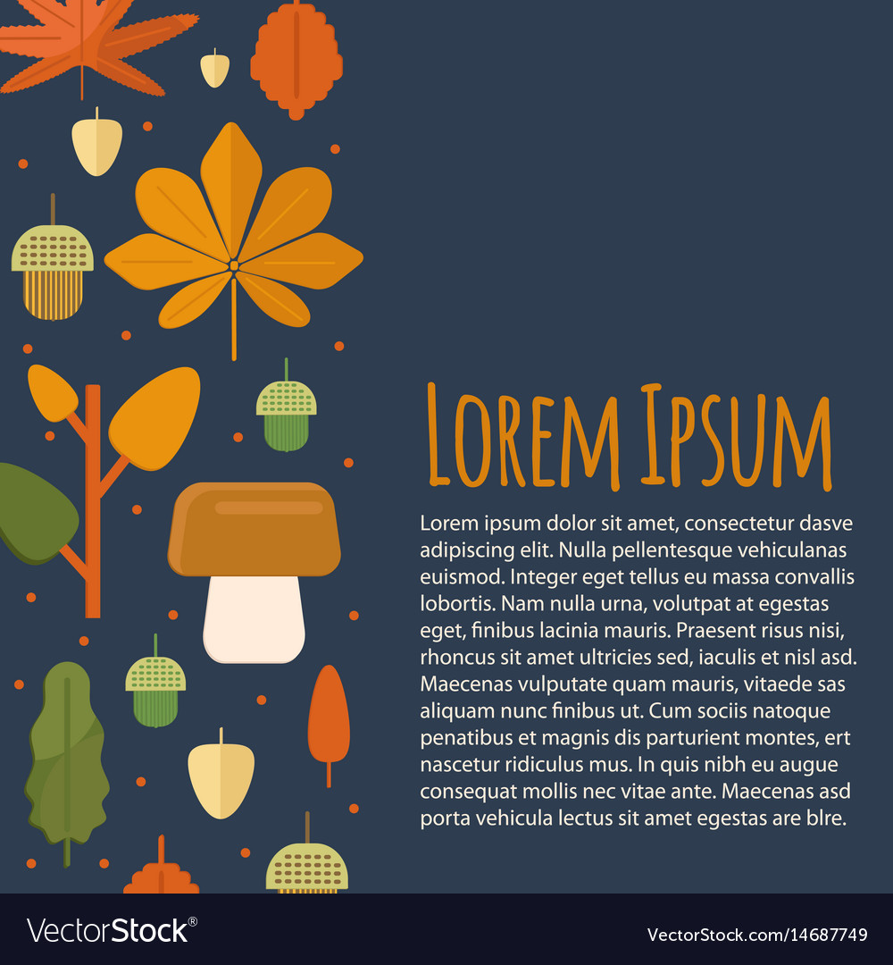 Autumn letterhead template in flat style vector image