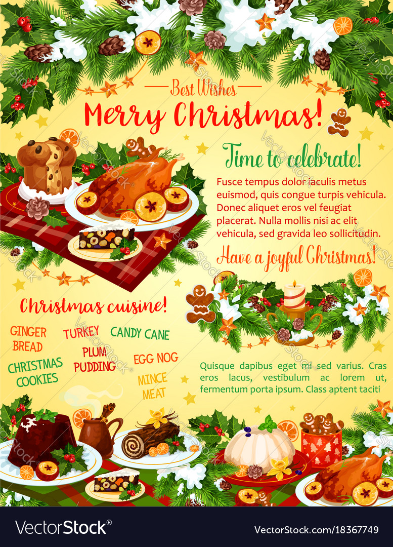 Christmas Dinner Celebration Greeting Card