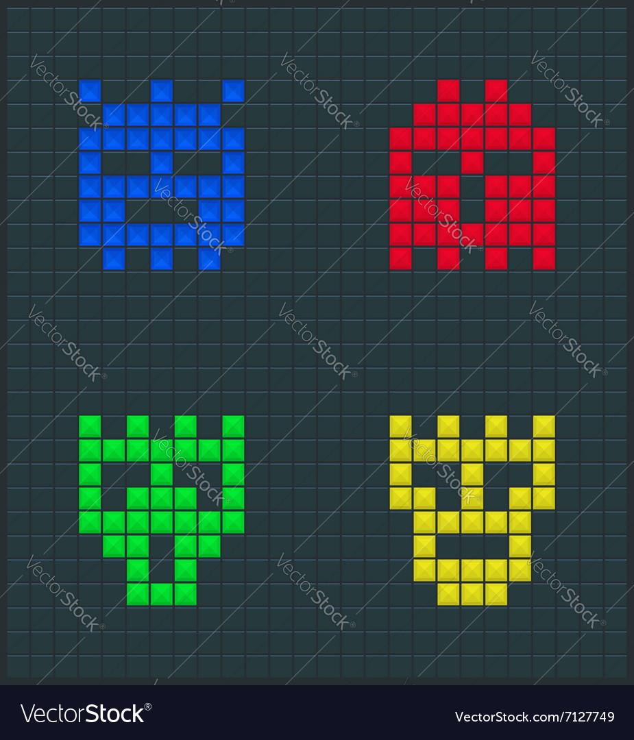 Color monsters set
