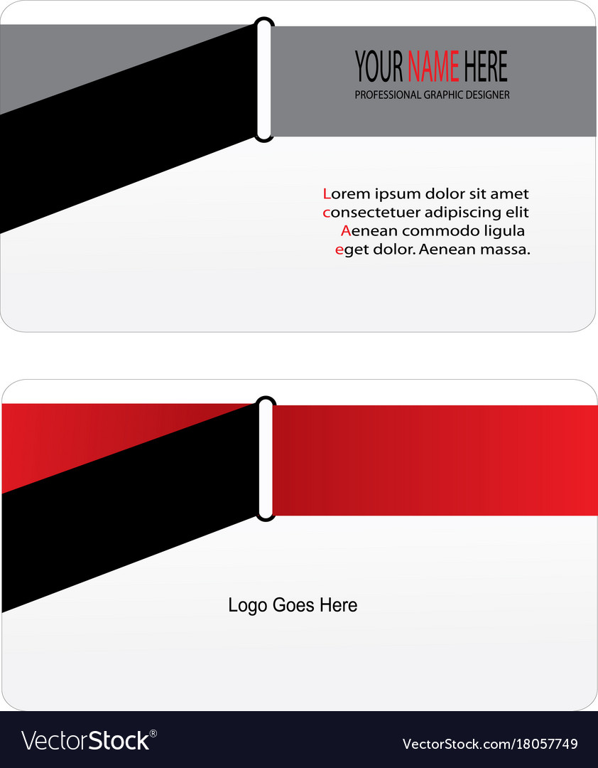 Cool business card Royalty Free Vector Image - VectorStock