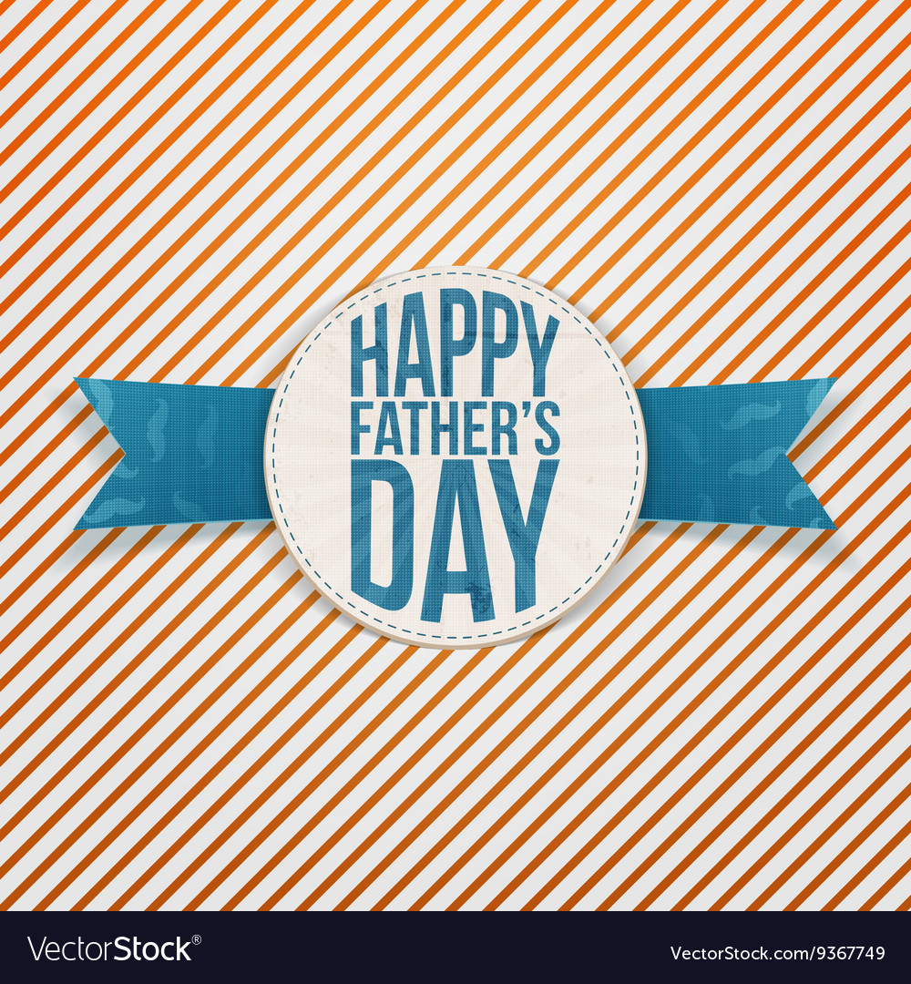 Happy Fathers Day Holiday Badge with blue Text