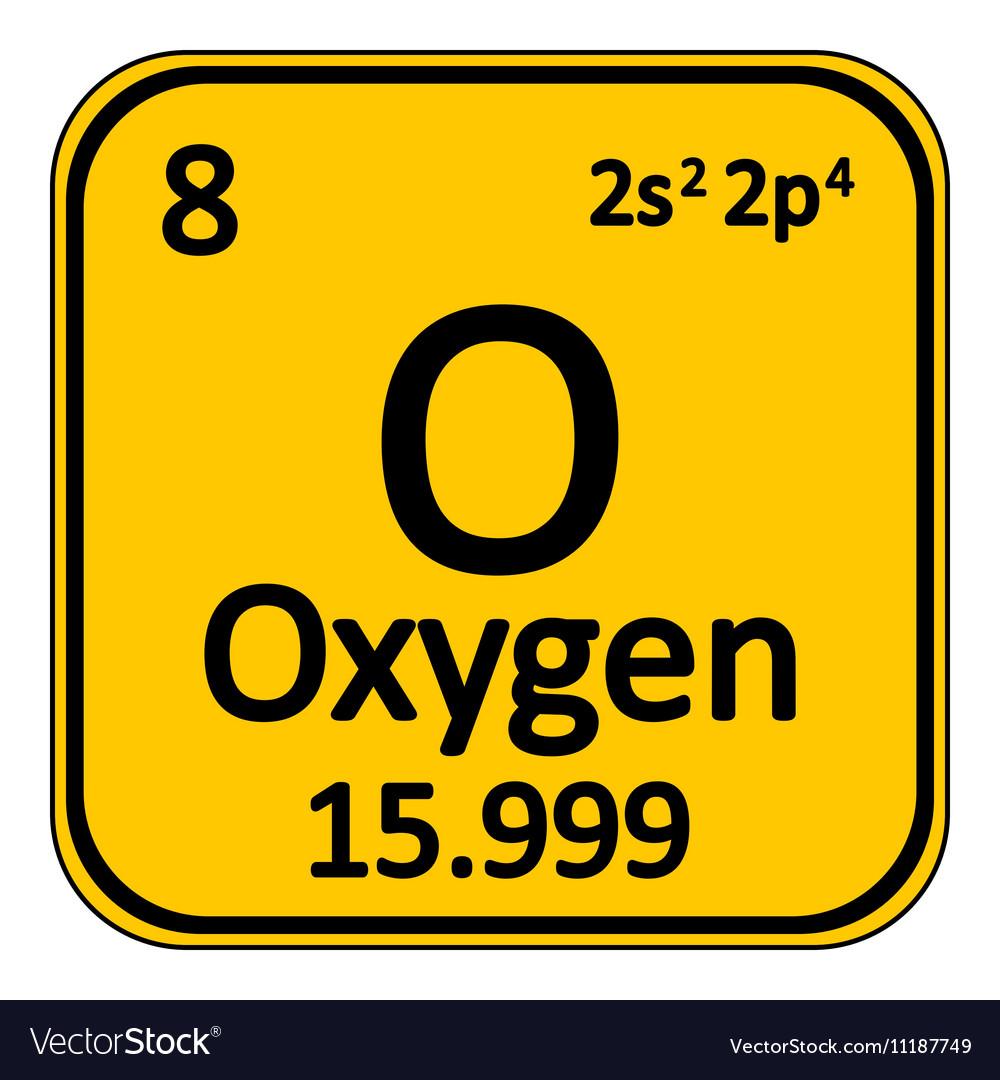 Periodic table element oxygen icon royalty free vector image periodic table element oxygen icon vector image urtaz Choice Image