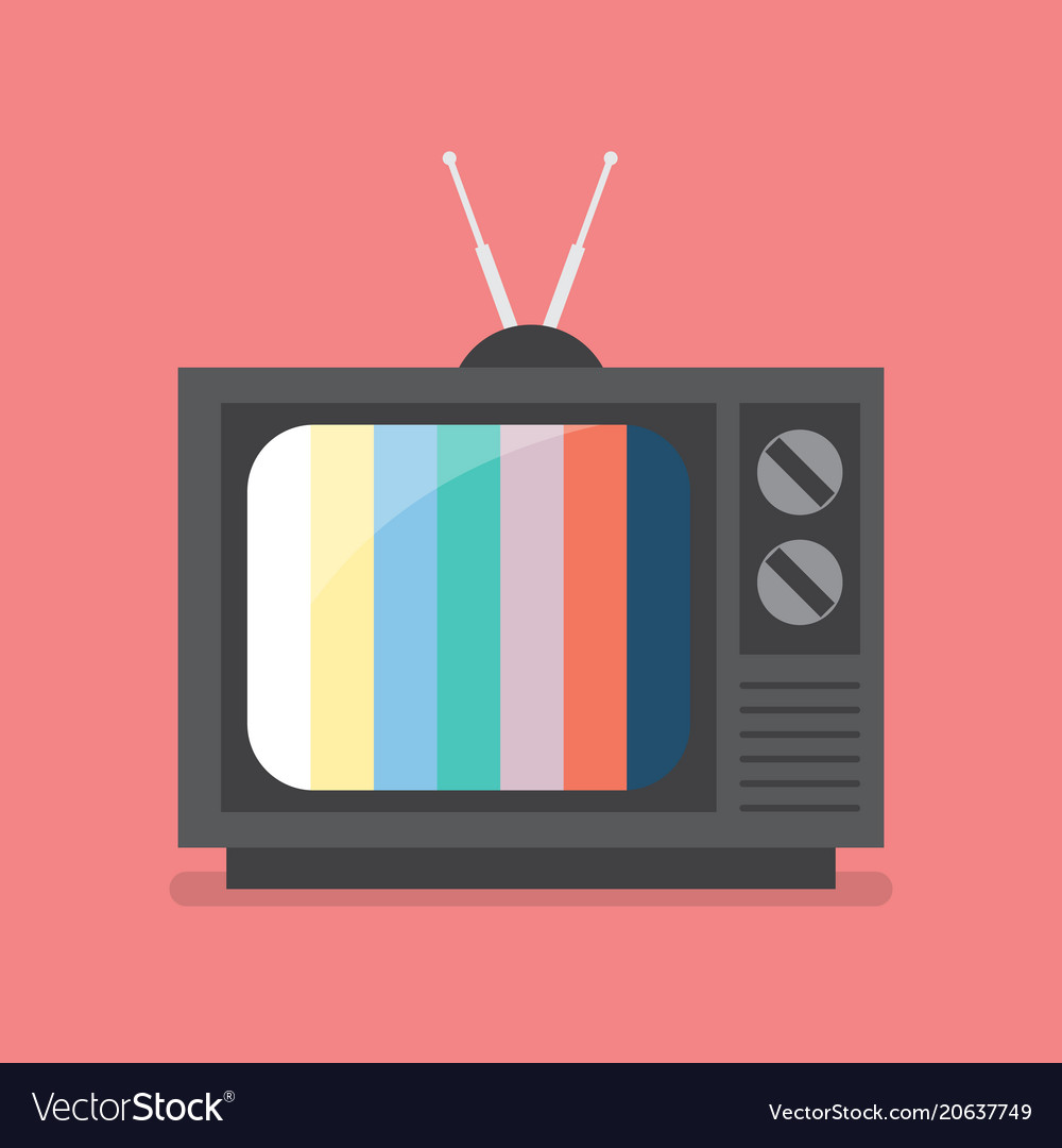 Retro television with color frame
