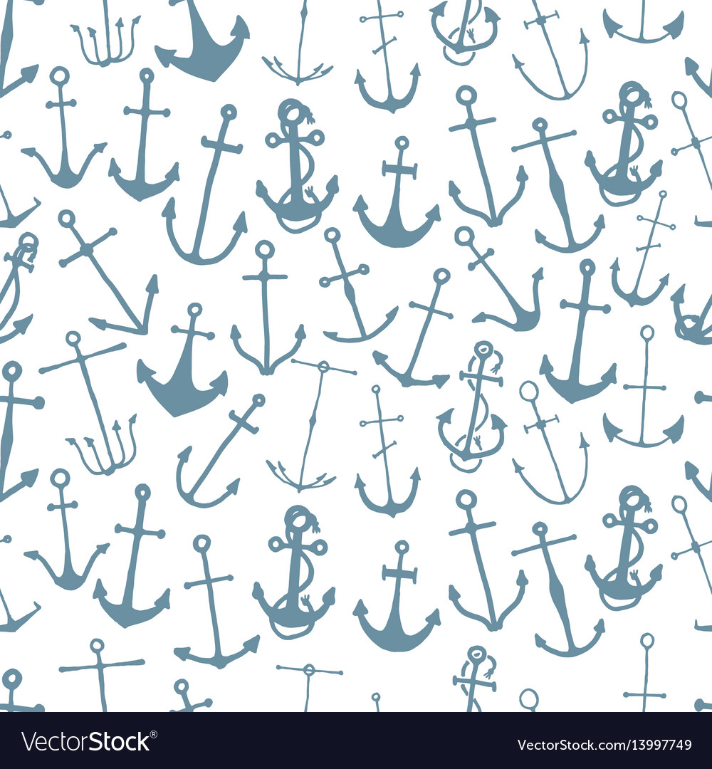 Seamless pattern with engraved hand drawn