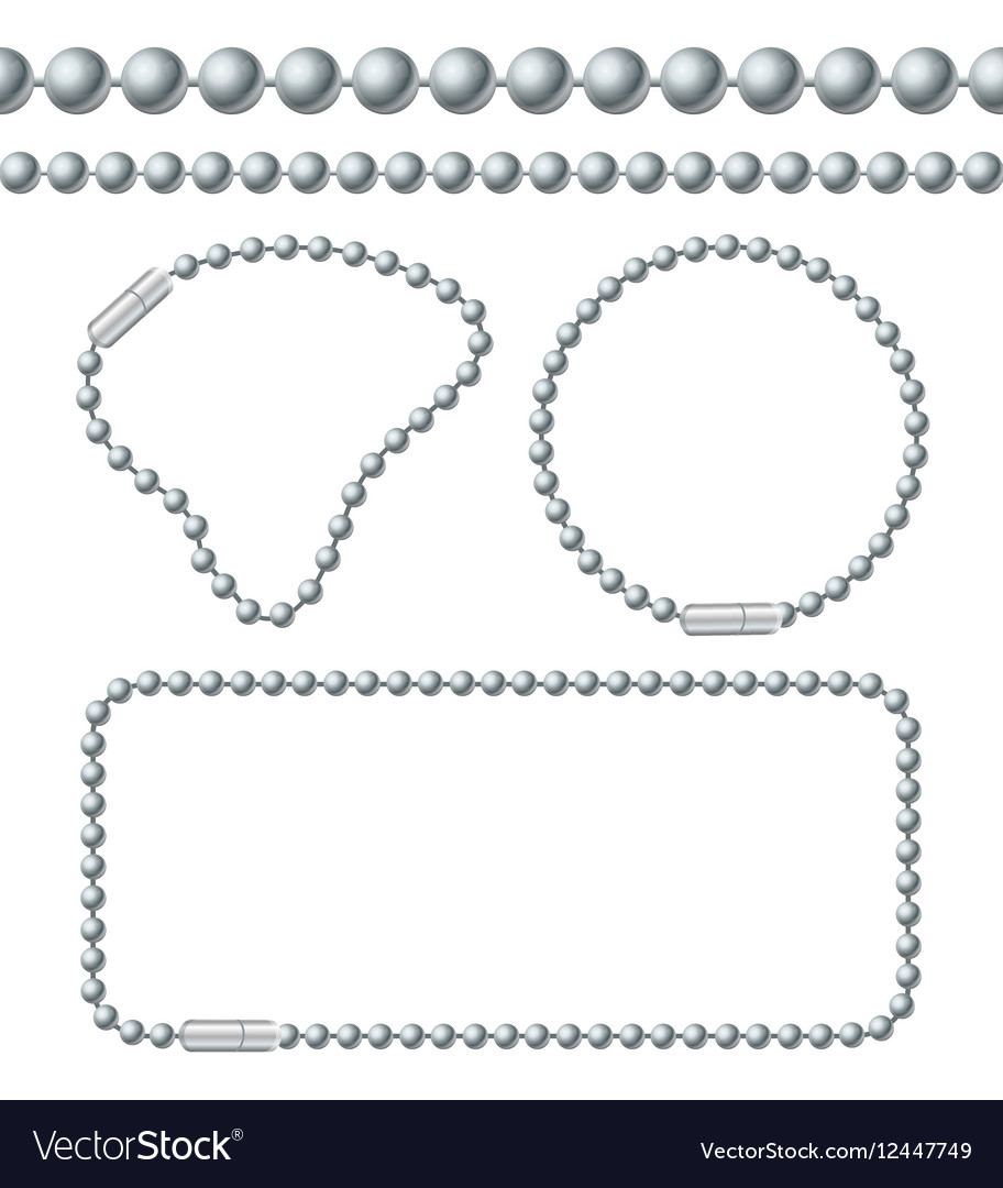 Silver Chain of Ball Links Set