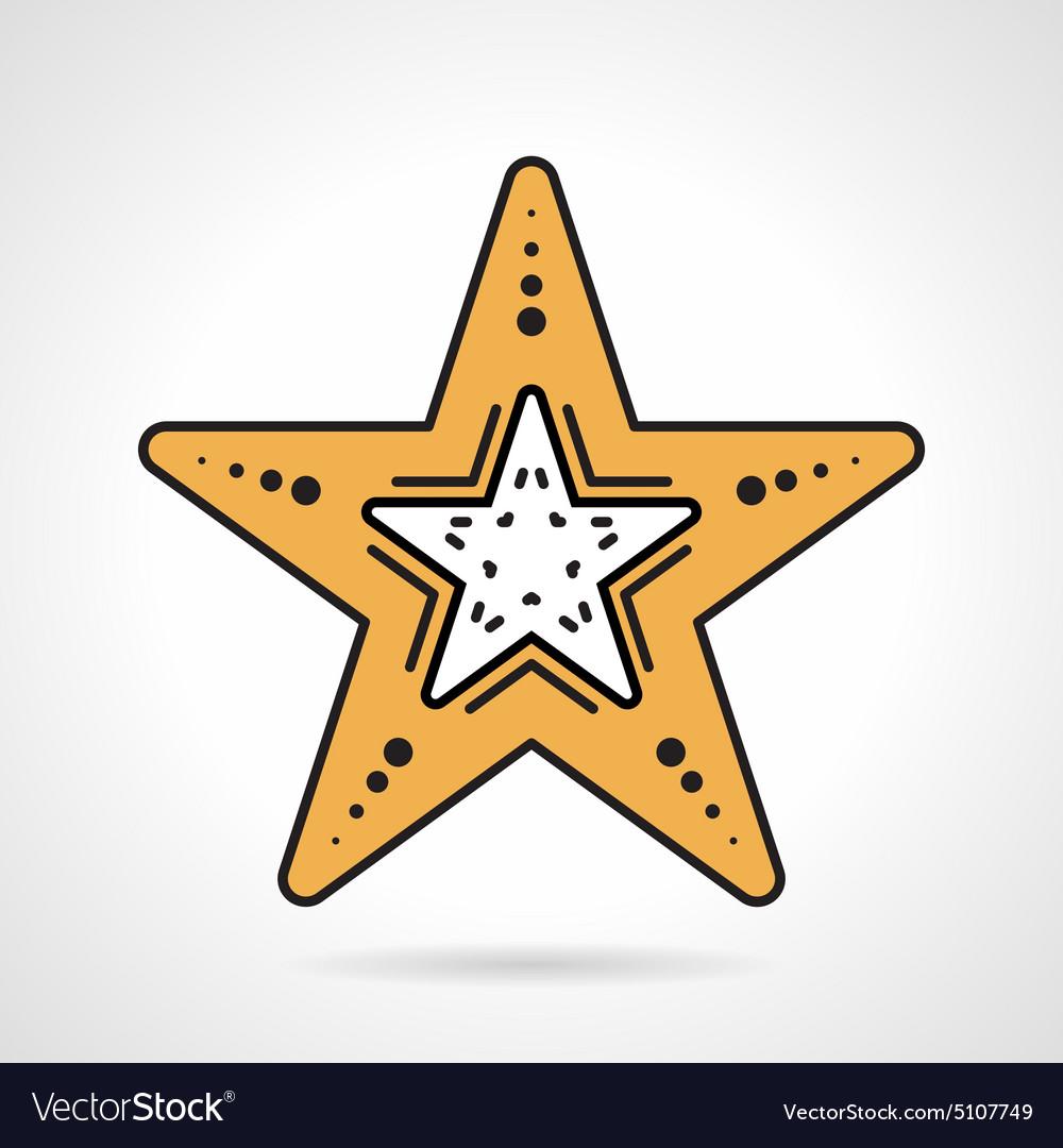 Starfish flat style icon