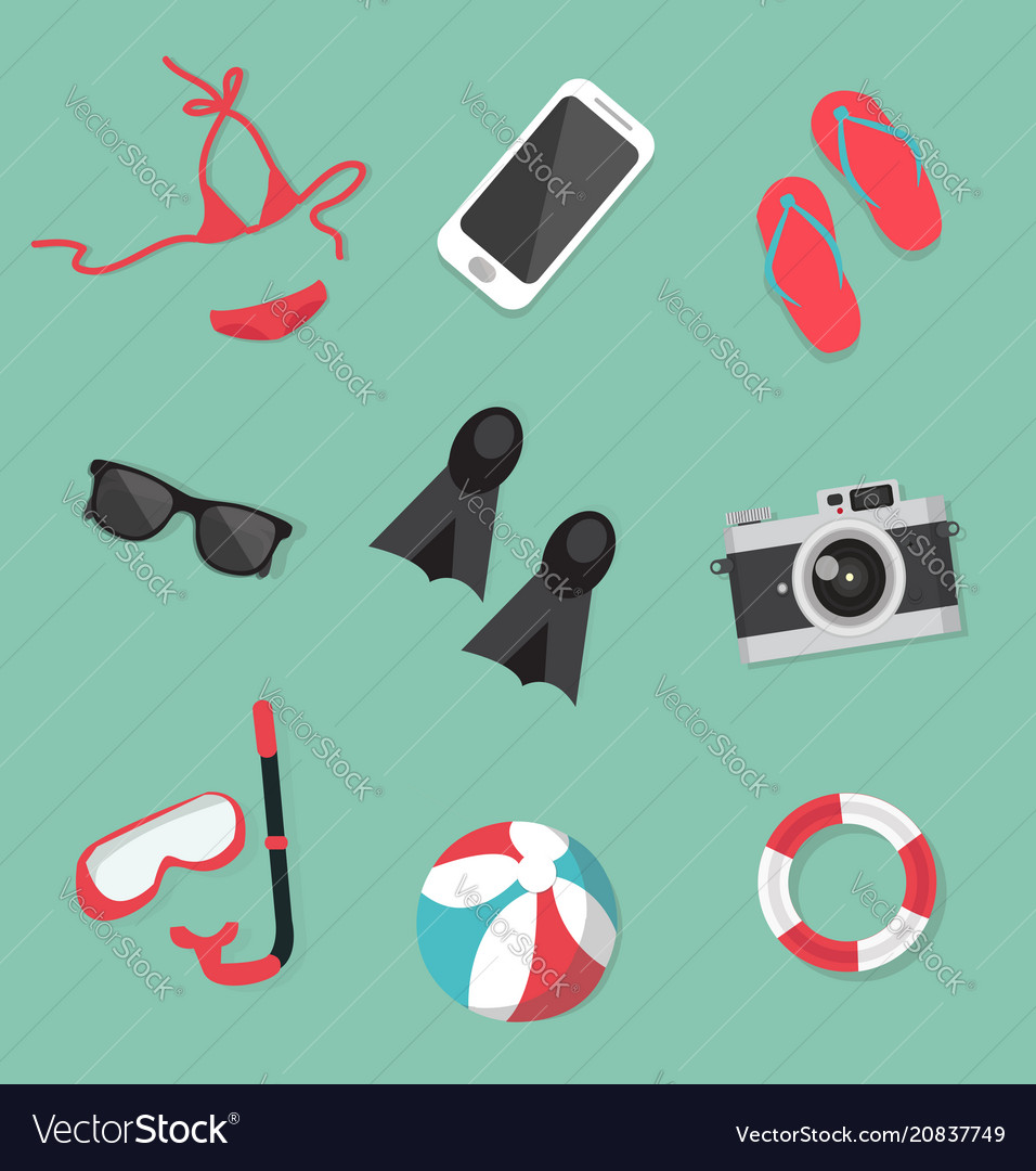 Summer collection accessories set