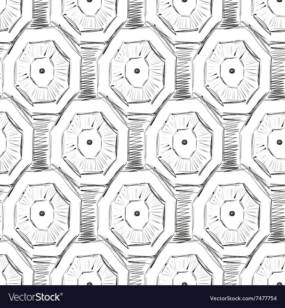 Abstract geometric pattern ink imitation seamless