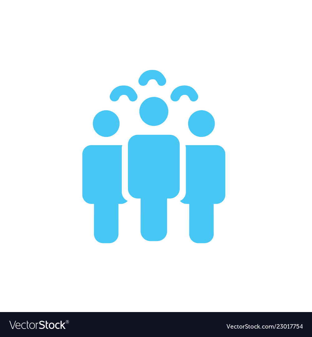 Crowd of people icon silhouettes social icon