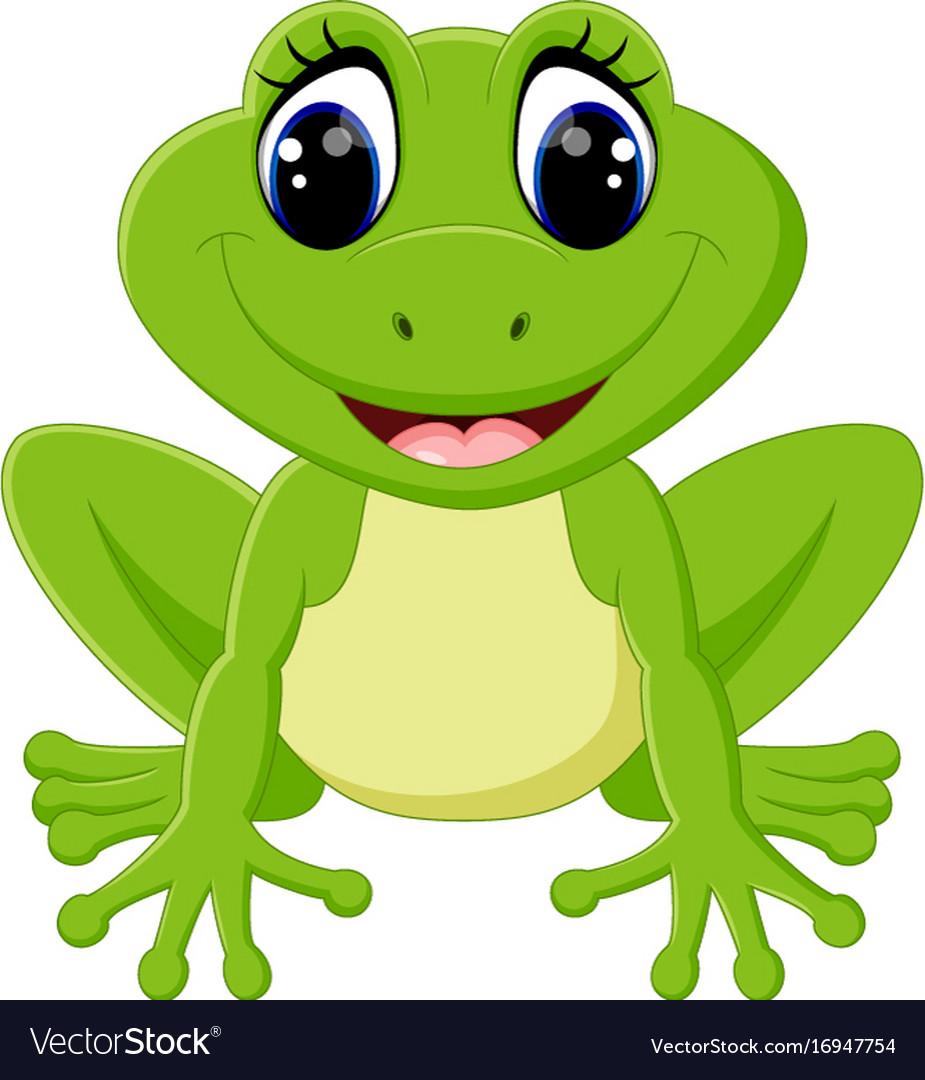 cute frog cartoon royalty free vector image vectorstock rh vectorstock com Leaping Frog Clip Art Frog Prince