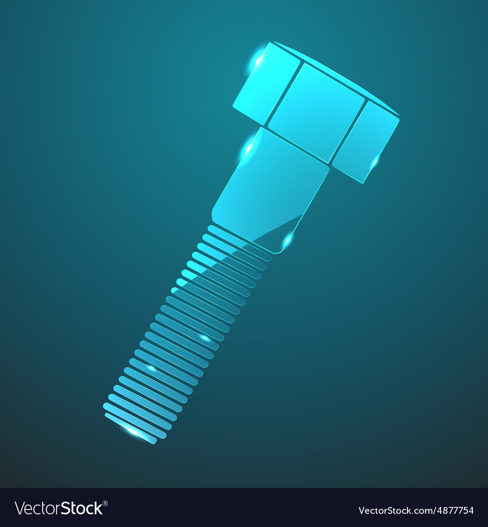 Glass bolt icon vector image