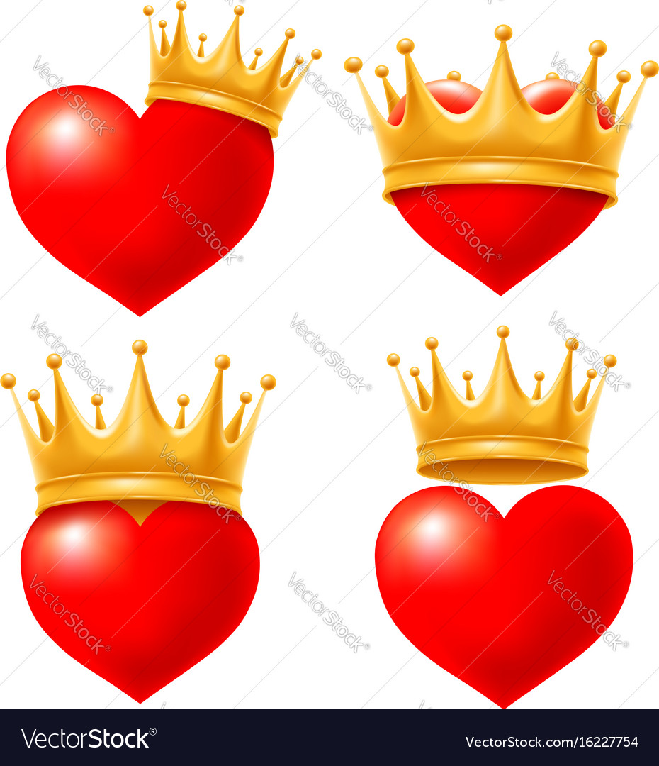 heart with crown royalty free vector image vectorstock