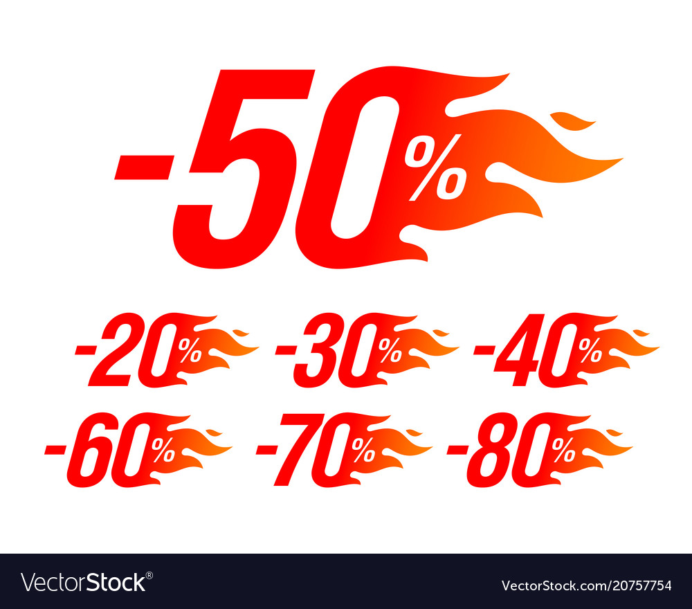 Hot sale special offer discount labels set