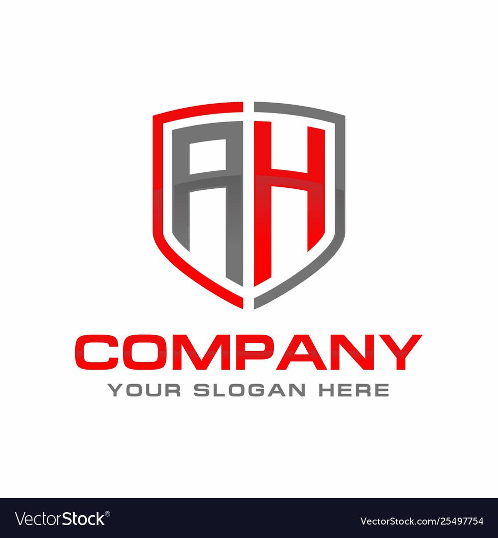 Initial letter ah logo template