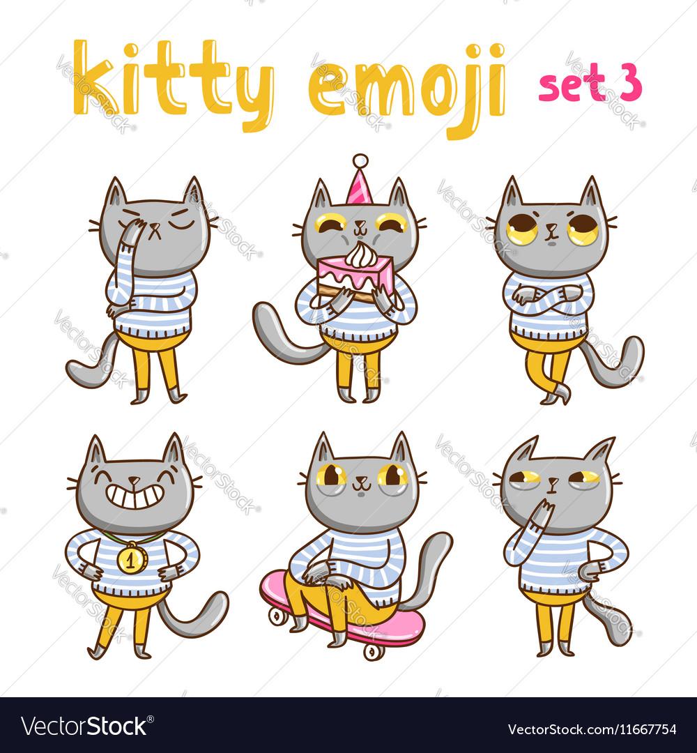 Kitty emoji set 3