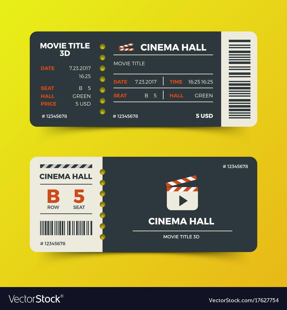 modern cinema movie tickets design royalty free vector image