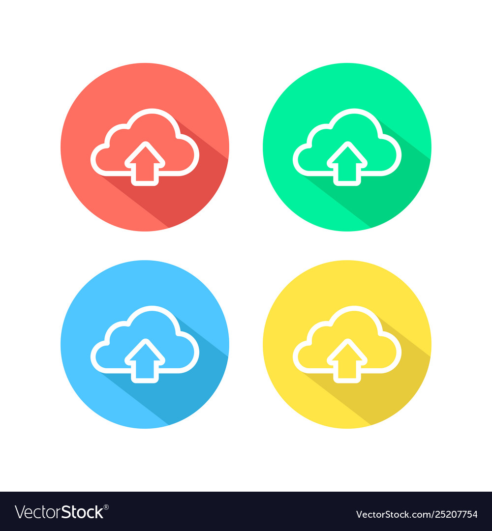 Outline upload simple cloud icon