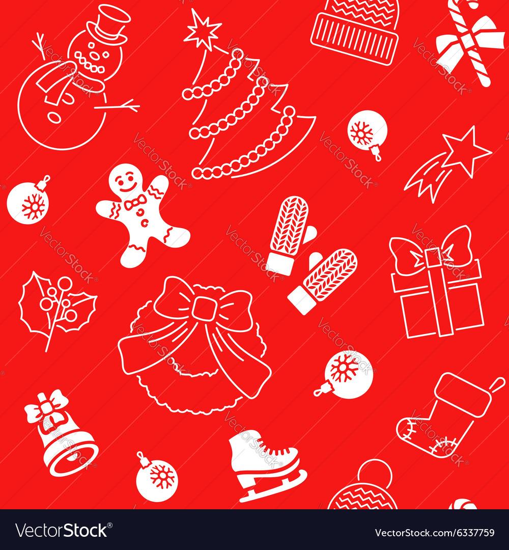 Christmas holiday seamless background pattern
