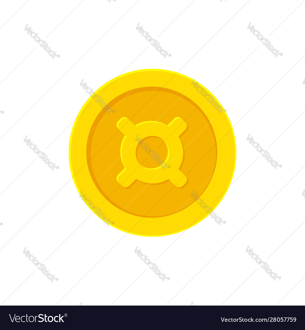 Golden coin with a generic currency symbol