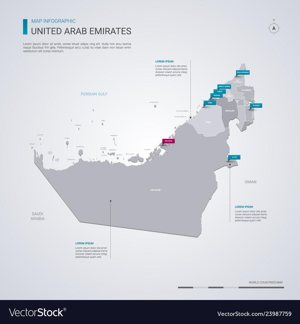 United arab emirates map with infographic on abu dhabi, united emirates, map of uae and surrounding countries, map with states of uae, seven emirates, map in uae, burj khalifa, flag of uae emirates, united states of america, burj al-arab, map of uae cities, arabian emirates, dubai arab emirates, middle east, map abu dhabi uae, map eau, map of the uae, major products in uae emirates, saudi arabia, map showing deserts of uae, persian gulf, map with 7 emirates uae, ras al-khaimah, arabian peninsula,