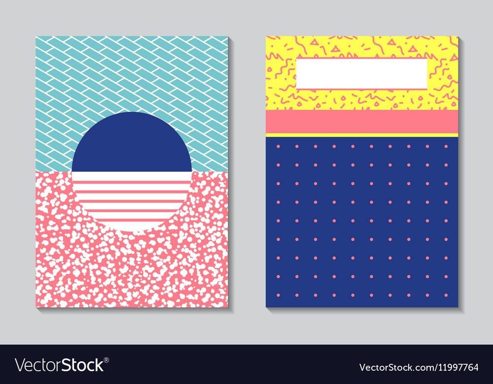 Abstract modern flyers brochure A4 design