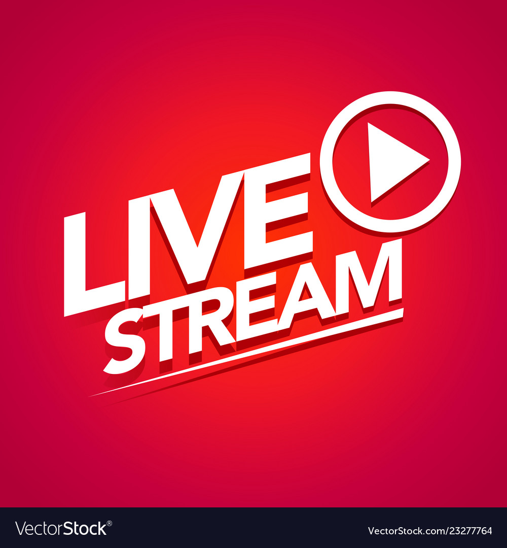 Live streaming logo with play button