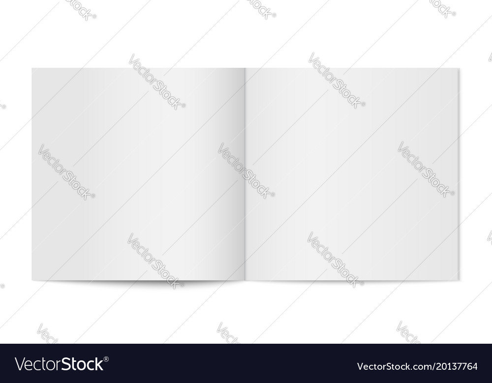 Mockup of booklet cover isolated