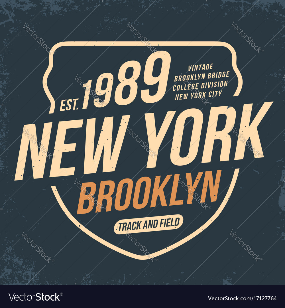 New york athletic sport typography for t shirt