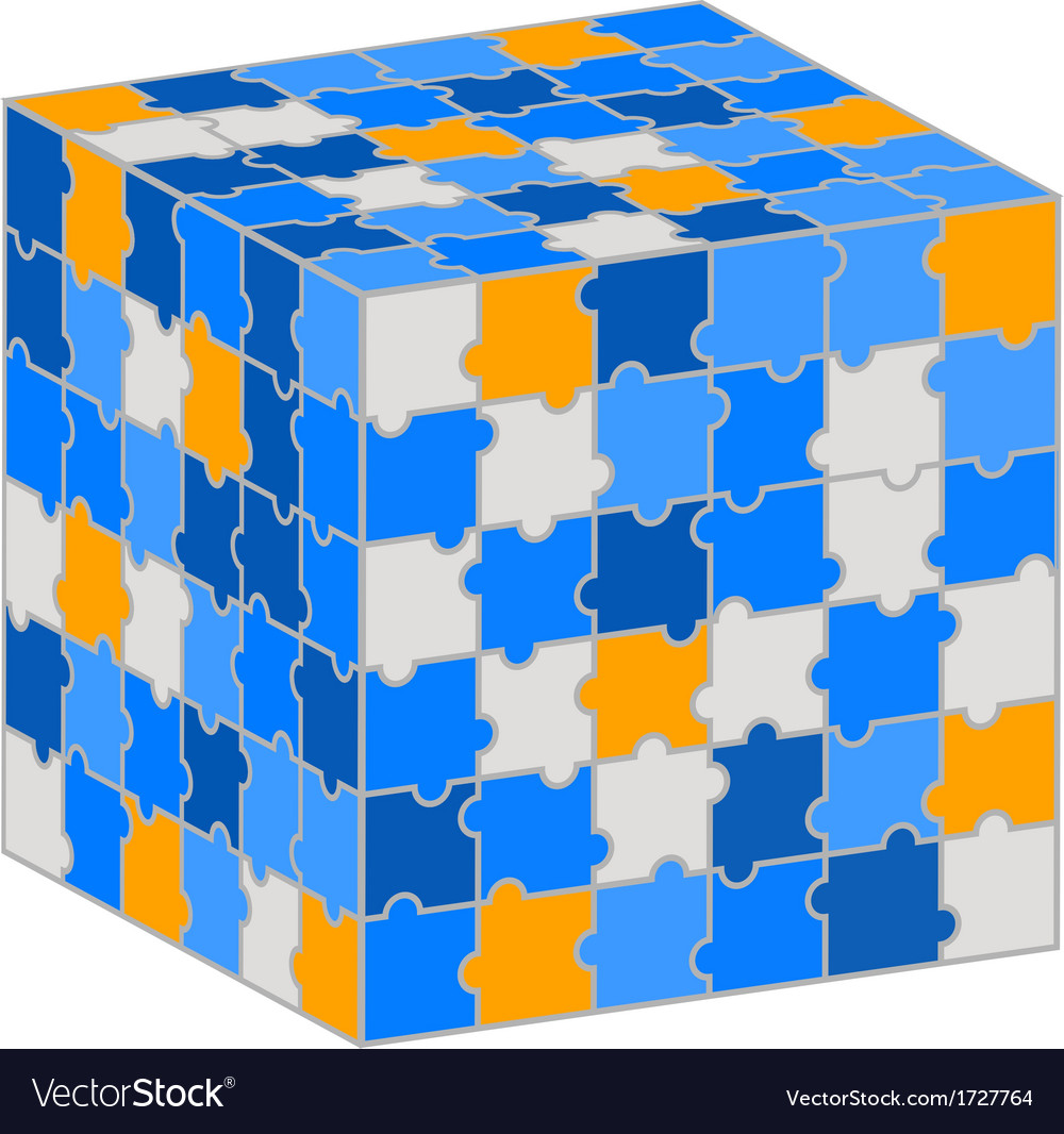 Puzzle cube for your business presentation